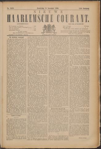 Nieuwe Haarlemsche Courant 1886-11-18