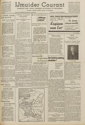 IJmuider Courant 1939-09-14