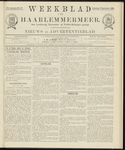 Weekblad van Haarlemmermeer 1886-09-11