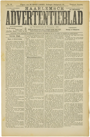 Haarlemsch Advertentieblad 1898-11-16