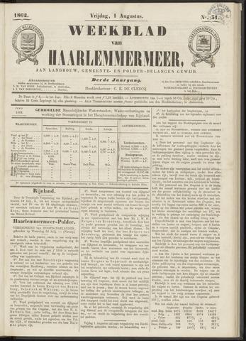 Weekblad van Haarlemmermeer 1862-08-01