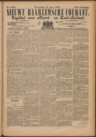 Nieuwe Haarlemsche Courant 1906-06-13