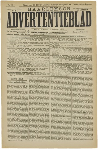 Haarlemsch Advertentieblad 1900-02-07