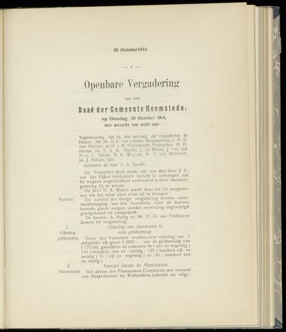 Raadsnotulen Heemstede 1914-10-29
