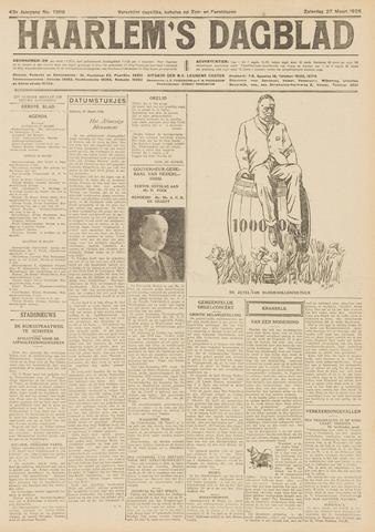 Haarlem's Dagblad 1926-03-27