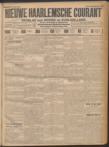 Nieuwe Haarlemsche Courant 1912-07-15