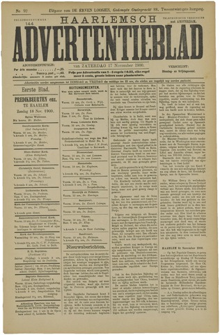 Haarlemsch Advertentieblad 1900-11-17