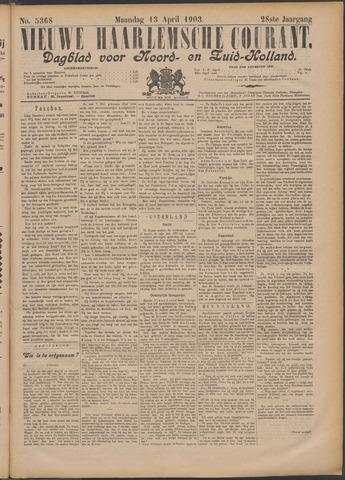 Nieuwe Haarlemsche Courant 1903-04-13