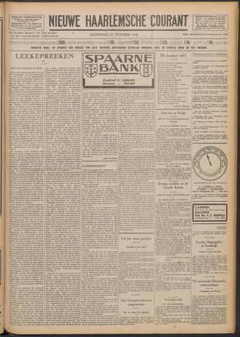 Nieuwe Haarlemsche Courant 1930-10-25