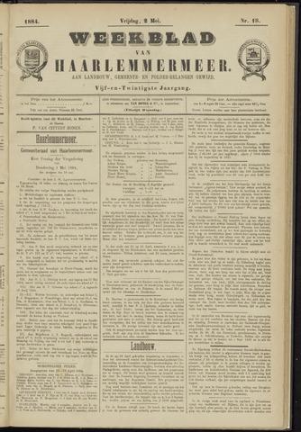 Weekblad van Haarlemmermeer 1884-05-02