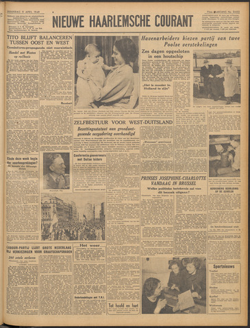 Nieuwe Haarlemsche Courant 1949-04-11