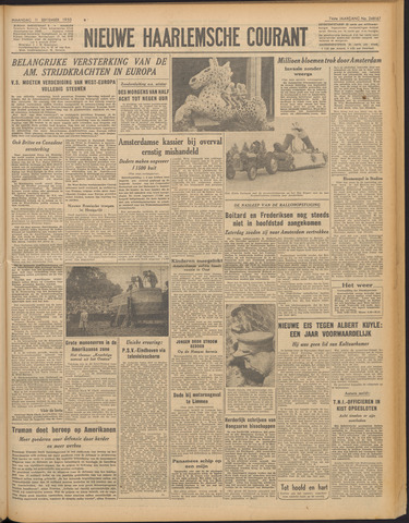 Nieuwe Haarlemsche Courant 1950-09-11