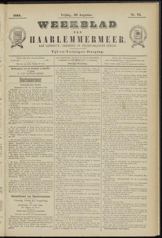 Weekblad van Haarlemmermeer 1884-08-22