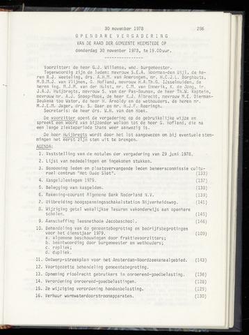 Raadsnotulen Heemstede 1978-11-30