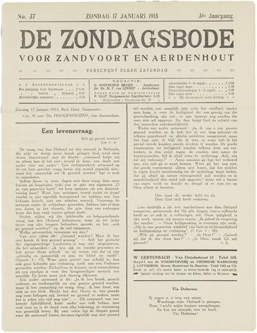 De Zondagsbode voor Zandvoort en Aerdenhout 1915-01-17