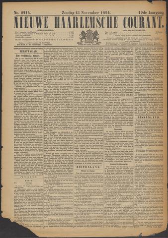 Nieuwe Haarlemsche Courant 1894-11-25