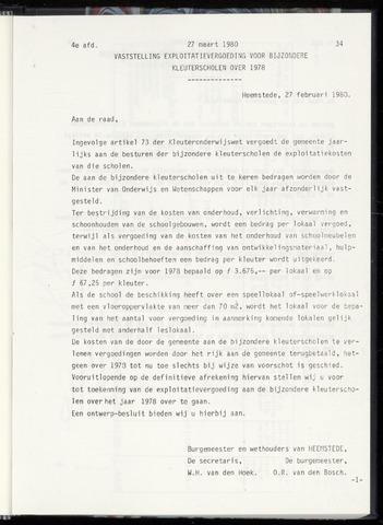 Raadsnotulen Heemstede 1980-03-27