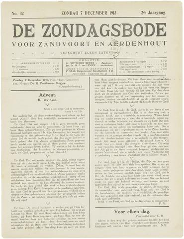 De Zondagsbode voor Zandvoort en Aerdenhout 1913-12-07