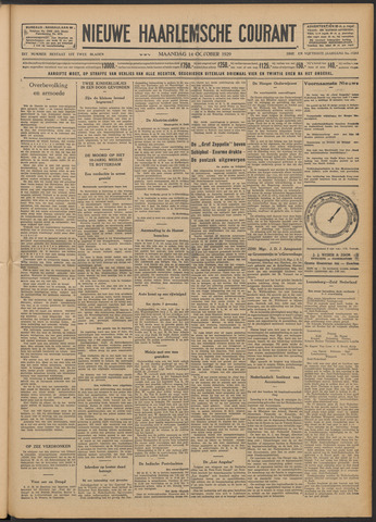 Nieuwe Haarlemsche Courant 1929-10-14