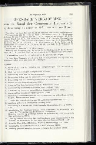 Raadsnotulen Heemstede 1972-08-31