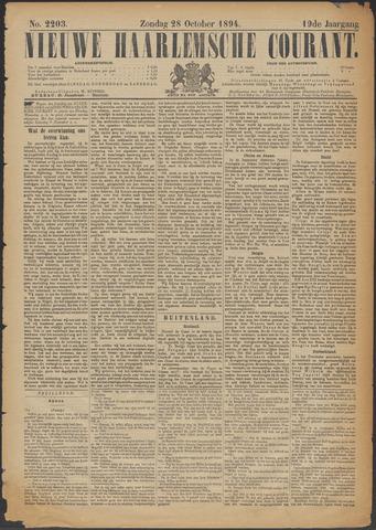 Nieuwe Haarlemsche Courant 1894-10-28