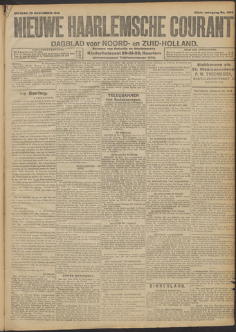 Nieuwe Haarlemsche Courant 1914-11-20
