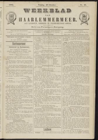 Weekblad van Haarlemmermeer 1882-10-27