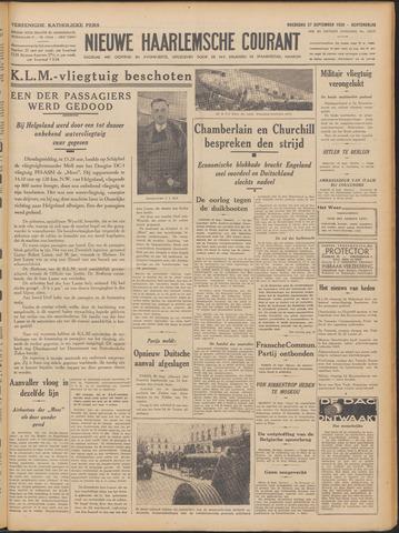 Nieuwe Haarlemsche Courant 1939-09-27