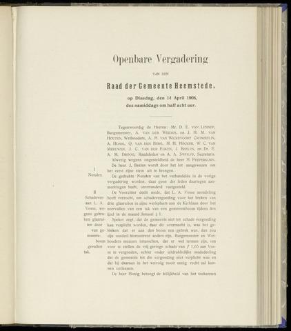 Raadsnotulen Heemstede 1908-04-14