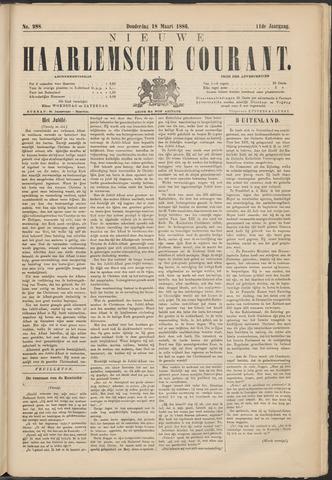 Nieuwe Haarlemsche Courant 1886-03-18
