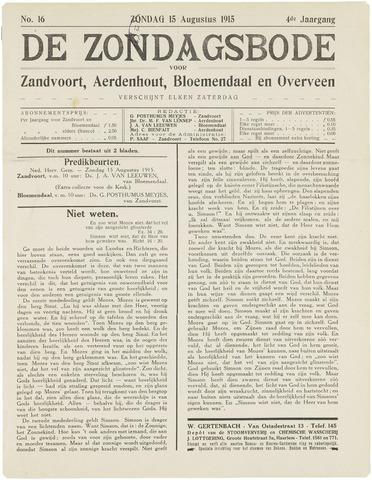 De Zondagsbode voor Zandvoort en Aerdenhout 1915-08-15