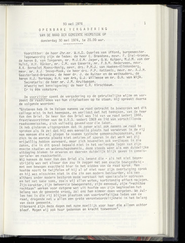Raadsnotulen Heemstede 1974-05-30