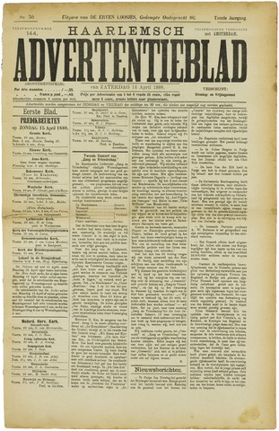 Haarlemsch Advertentieblad 1888-04-14