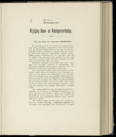 Raadsnotulen Heemstede 1913-03-27