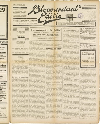 Bloemendaal's Editie 1929-05-04