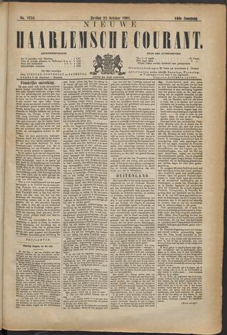 Nieuwe Haarlemsche Courant 1891-10-25