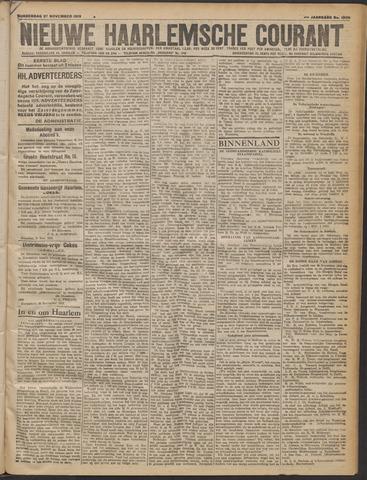 Nieuwe Haarlemsche Courant 1919-11-27