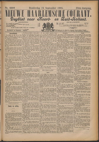 Nieuwe Haarlemsche Courant 1905-09-14