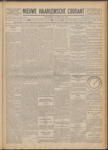 Nieuwe Haarlemsche Courant 1930-02-13