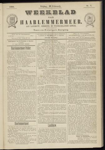 Weekblad van Haarlemmermeer 1881-02-18