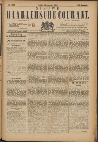 Nieuwe Haarlemsche Courant 1893-09-15