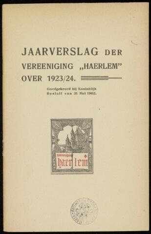 Jaarverslagen en Jaarboeken Vereniging Haerlem 1923