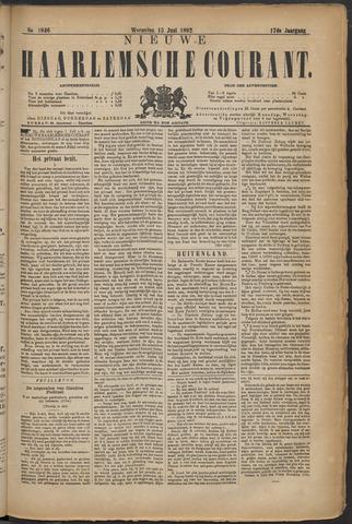 Nieuwe Haarlemsche Courant 1892-06-15