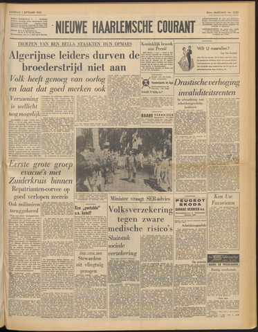 Nieuwe Haarlemsche Courant 1962-09-01