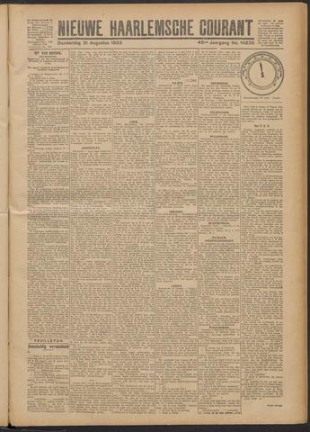 Nieuwe Haarlemsche Courant 1922-08-31
