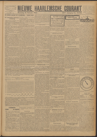 Nieuwe Haarlemsche Courant 1923-02-19