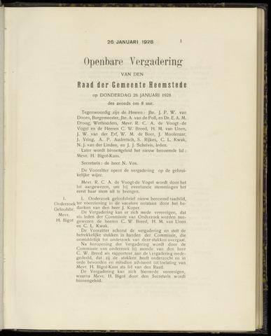 Raadsnotulen Heemstede 1928-01-26