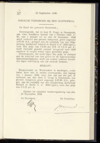 Raadsnotulen Heemstede 1938-09-22