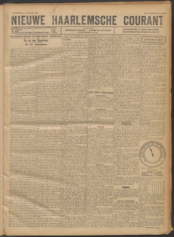 Nieuwe Haarlemsche Courant 1922-01-05