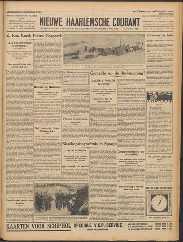 Nieuwe Haarlemsche Courant 1934-11-21